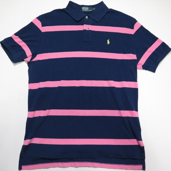 Polo Ralph Lauren Golf Shirt Polo Blue/Pink Stripe